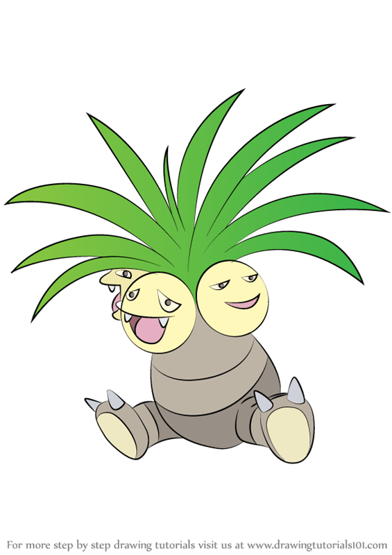 Learn How To Draw Exeggutor From Pokemon Pokemon Step By Step Drawing Tutorials