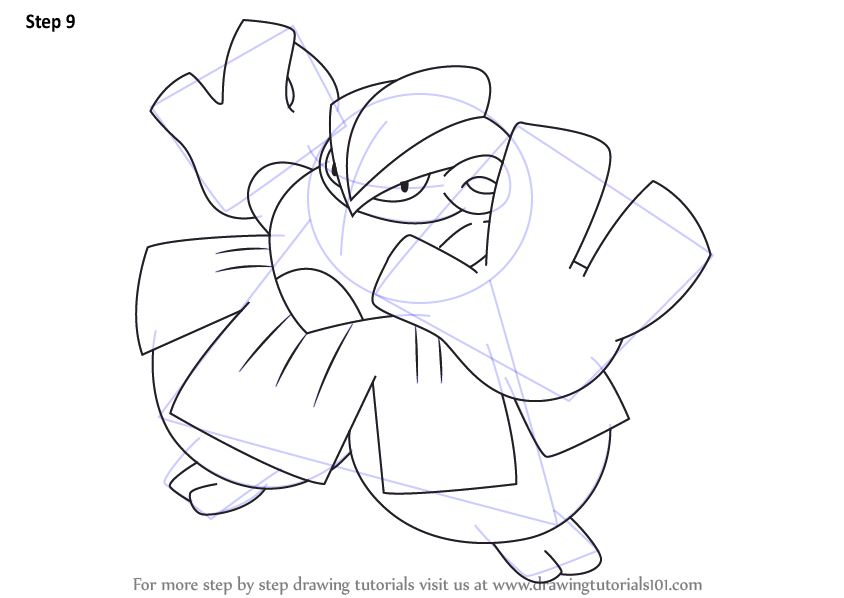 Learn How to Draw Hariyama from Pokemon Pokemon Step by