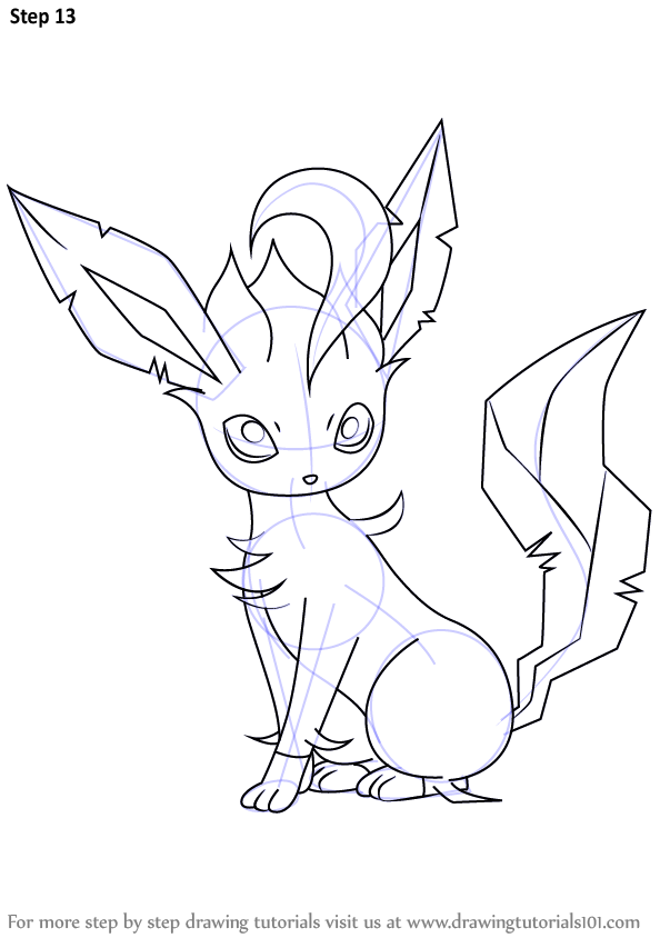 Learn How to Draw Leafeon from Pokemon (Pokemon) Step by