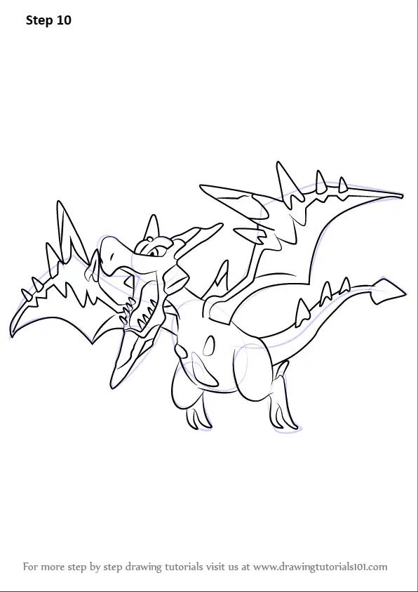Learn How To Draw Mega Aerodactyl From Pokemon Pokemon