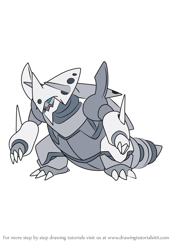 Learn How To Draw Mega Aggron From Pokemon Pokemon Step By Step Drawing Tutorials