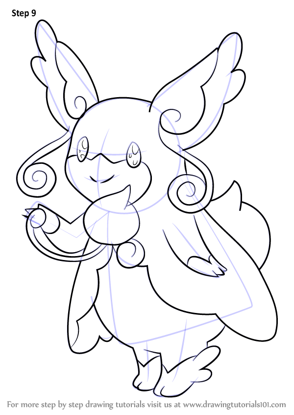 Step By Step How To Draw Mega Audino From Pokemon