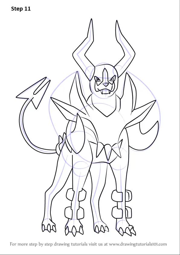 Learn How to Draw Mega Houndoom from Pokemon (Pokemon