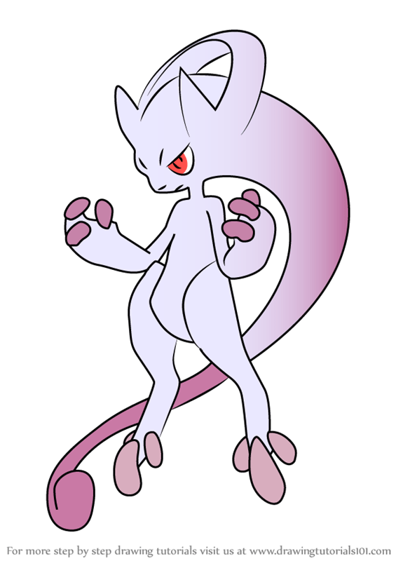 Learn How to Draw Mega Mewtwo Y from Pokemon (Pokemon