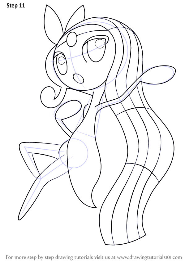 Learn How To Draw Meloetta From Pokemon Pokemon Step By