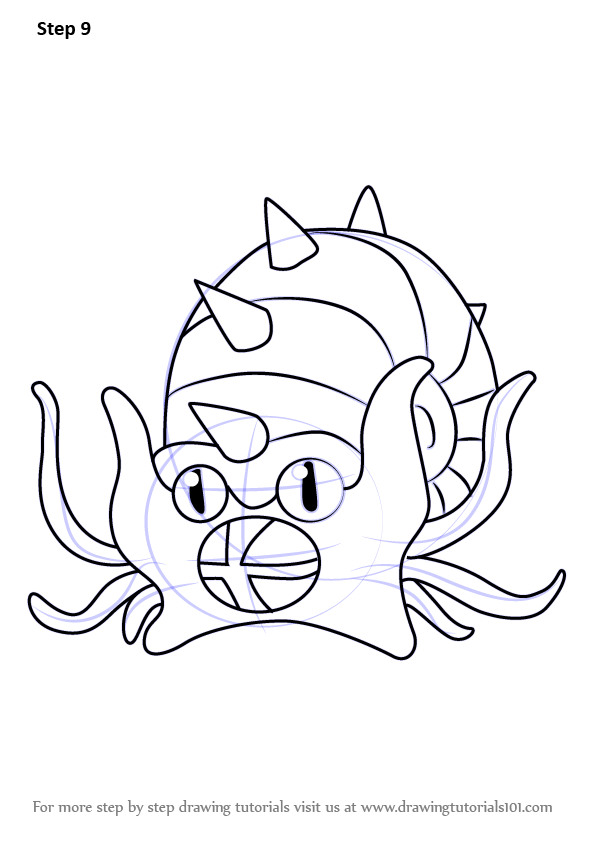 Learn How To Draw Omastar From Pokemon Pokemon Step By