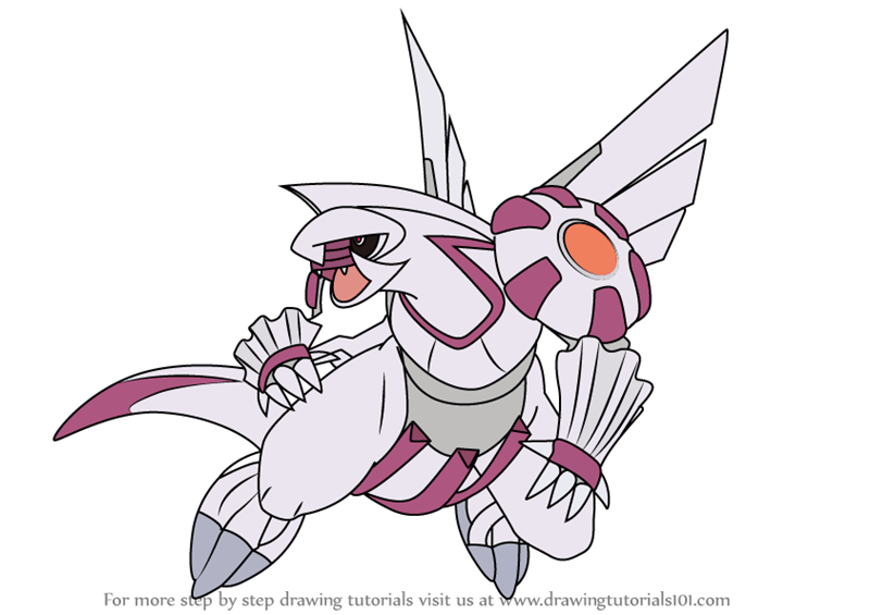 Learn How To Draw Palkia From Pokemon Pokemon Step By Step