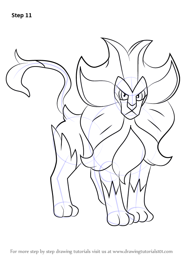 Learn How to Draw Pyroar from Pokemon (Pokemon) Step by