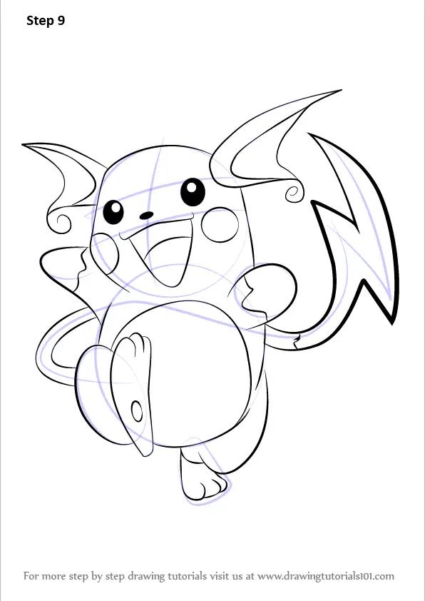 Learn How to Draw Raichu from Pokemon (Pokemon) Step by