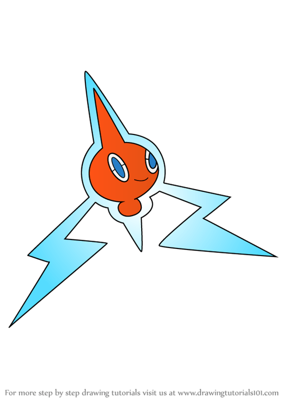 Learn How to Draw Rotom from Pokemon Pokemon Step by