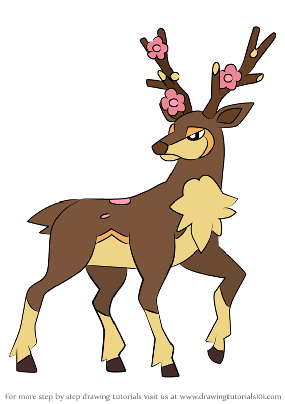 Learn How to Draw Sawsbuck from Pokemon (Pokemon) Step by