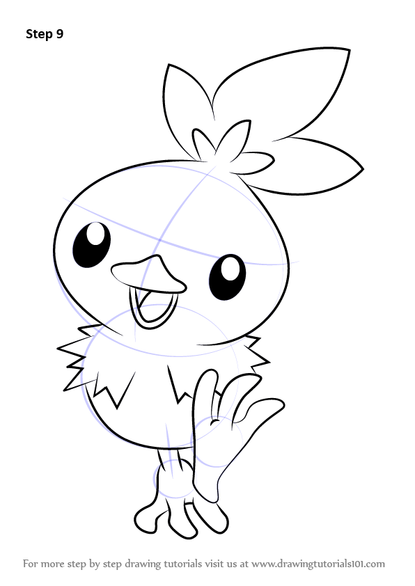 Learn How to Draw Torchic from Pokemon Pokemon Step by
