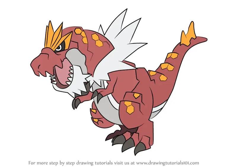 Learn How to Draw Tyrantrum from Pokemon (Pokemon) Step by