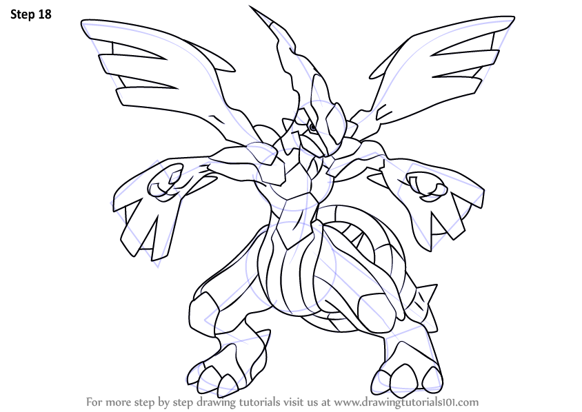 Learn How to Draw Zekrom from Pokemon (Pokemon) Step by