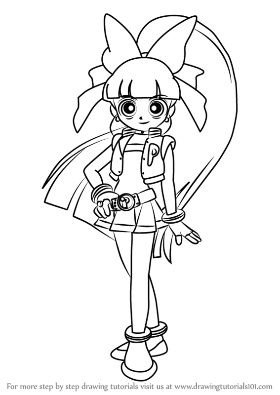 Learn How to Draw Momoko Akatsutsumi from Powerpuff Girls
