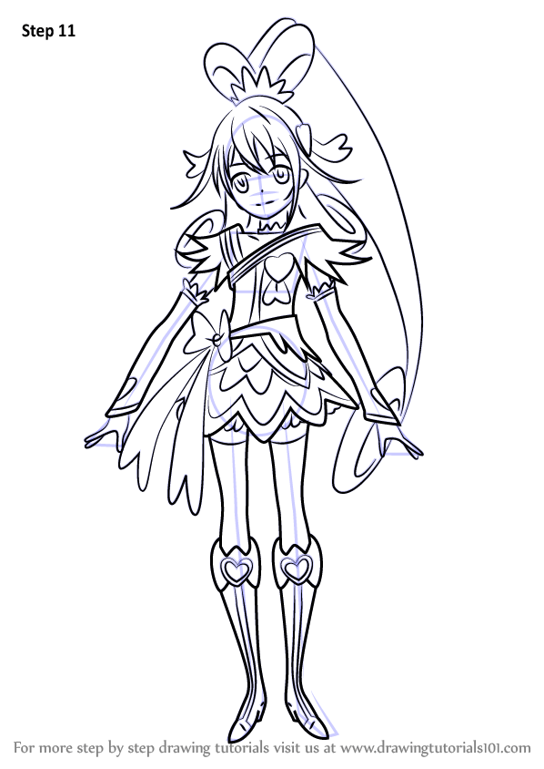 Learn How to Draw Cure Heart from Pretty Cure (Pretty Cure