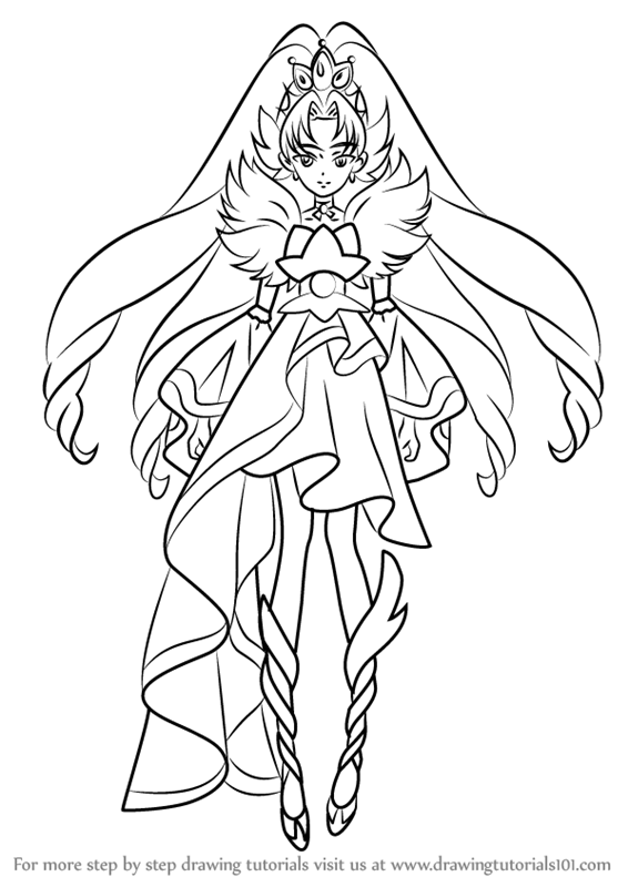 Learn How To Draw Cure Scarlet From Pretty Cure Pretty
