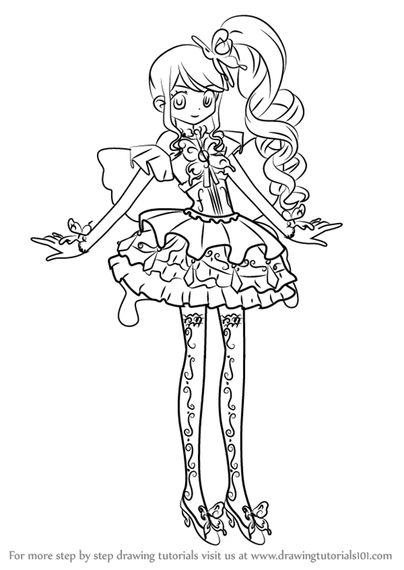 Learn How To Draw Junon From PriPara PriPara Step By