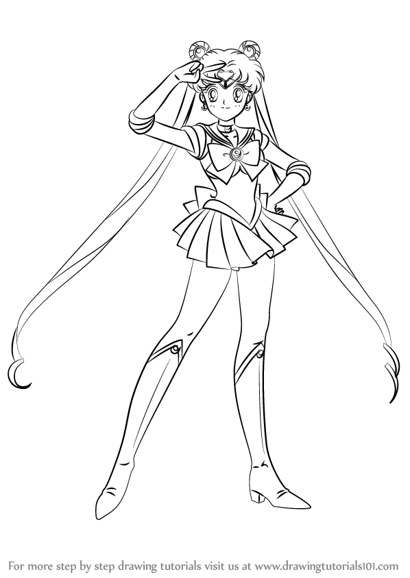 Learn How to Draw Sailor Moon (Sailor Moon) Step by Step
