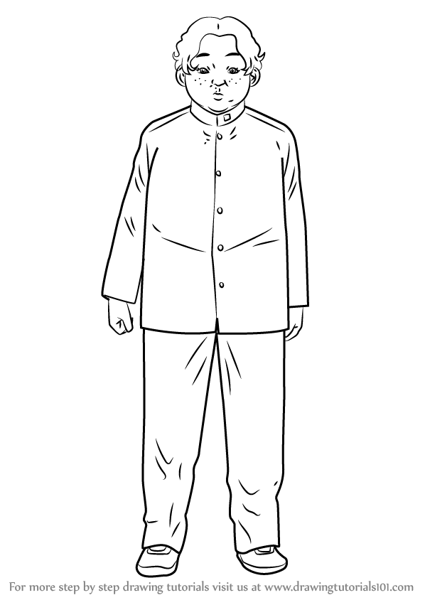 Learn How to Draw Kubota Yoshinobu from Sakamoto desu ga
