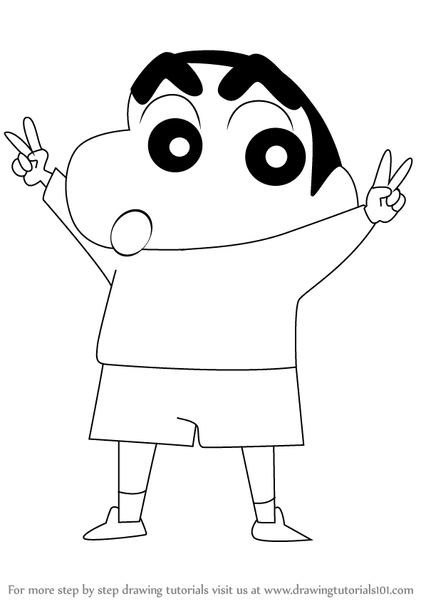 Learn How to Draw Shin Chan (Shin Chan) Step by Step