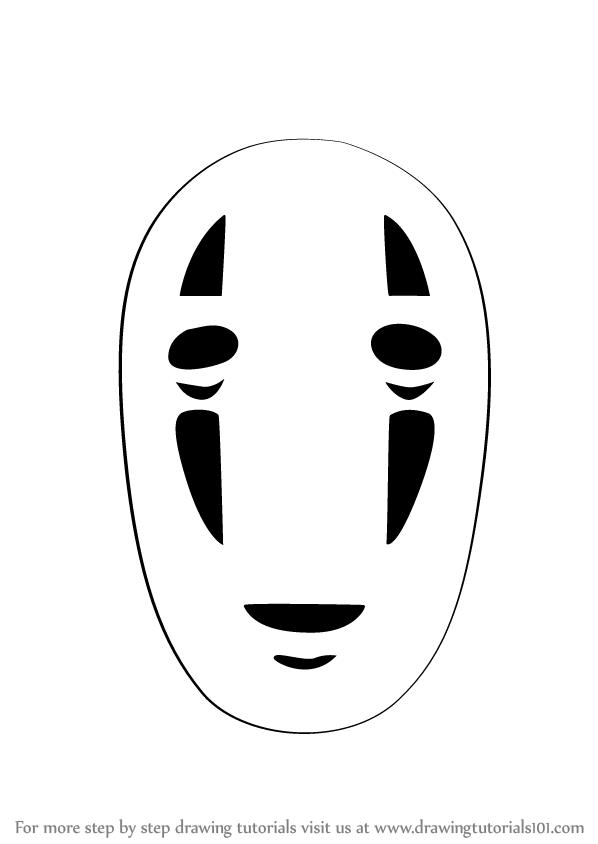 Learn How to Draw No-Face from Spirited Away (Spirited