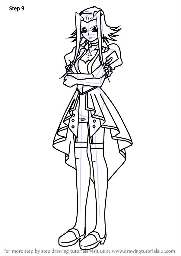 Learn How to Draw Akiza Izinski from Yu-Gi-Oh! 5D's (Yu-Gi