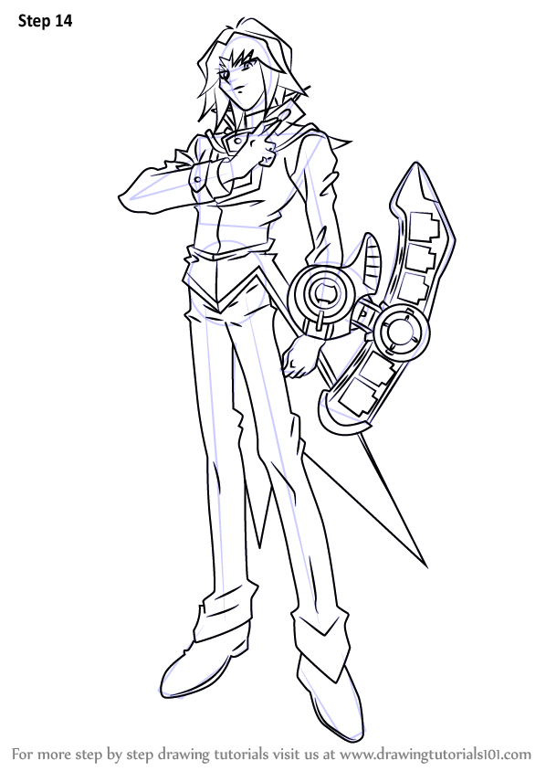Learn How To Draw Zane Truesdale From Yu Gi Oh GX Yu Gi
