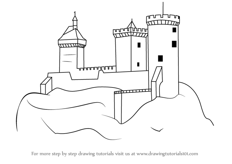 Step by Step How to Draw a Medieval Castle