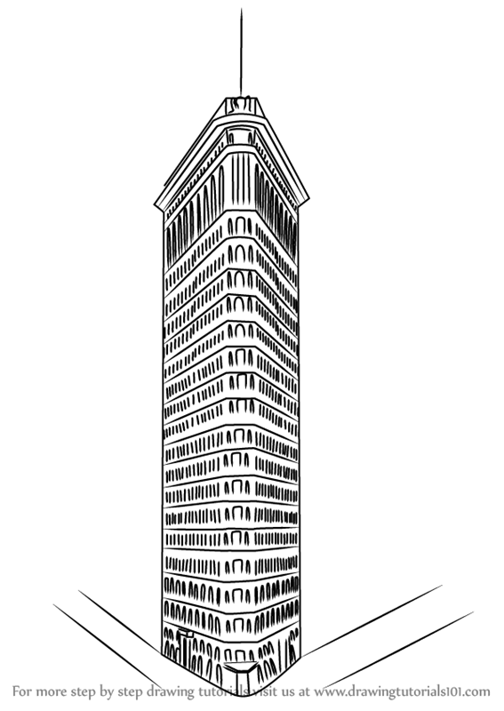 Step by Step How to Draw Flatiron Building