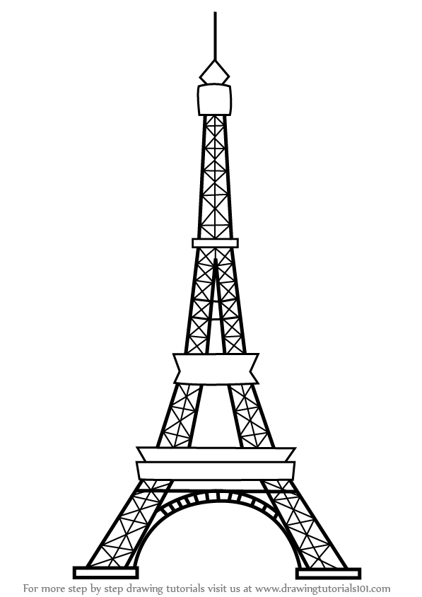 Learn How to Draw an Eiffel Tower (Wonders of The World