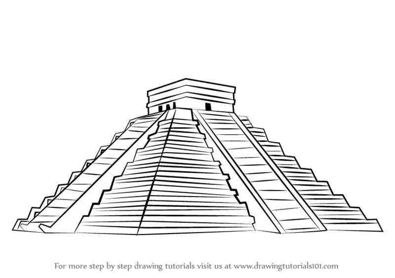 Learn How to Draw El Castillo Chichen Itza (Wonders of The