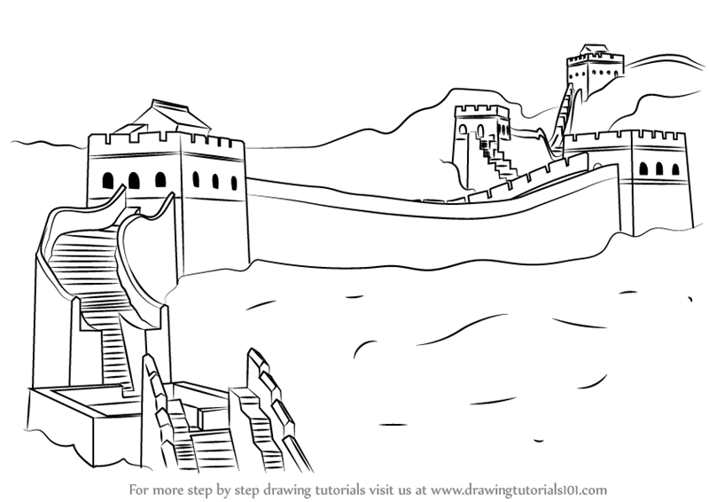 Learn How to Draw Great Wall of China (World Heritage