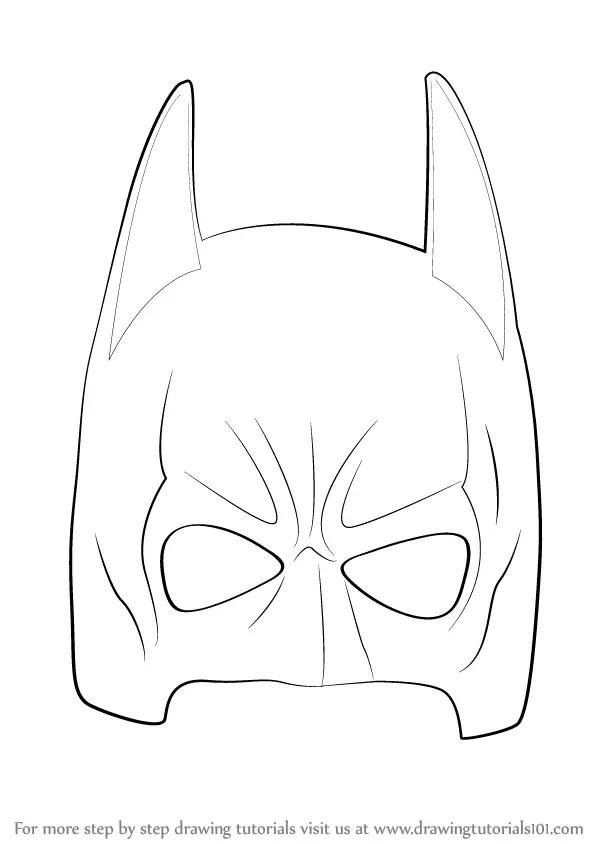 Learn How to Draw Batman Mask (Batman) Step by Step