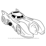How to Draw Batmobile Arkham Knight printable step by step