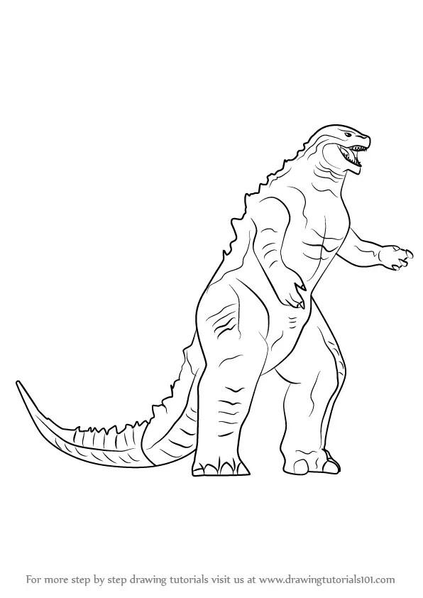 Learn How to Draw a Godzilla Godzilla Step by Step