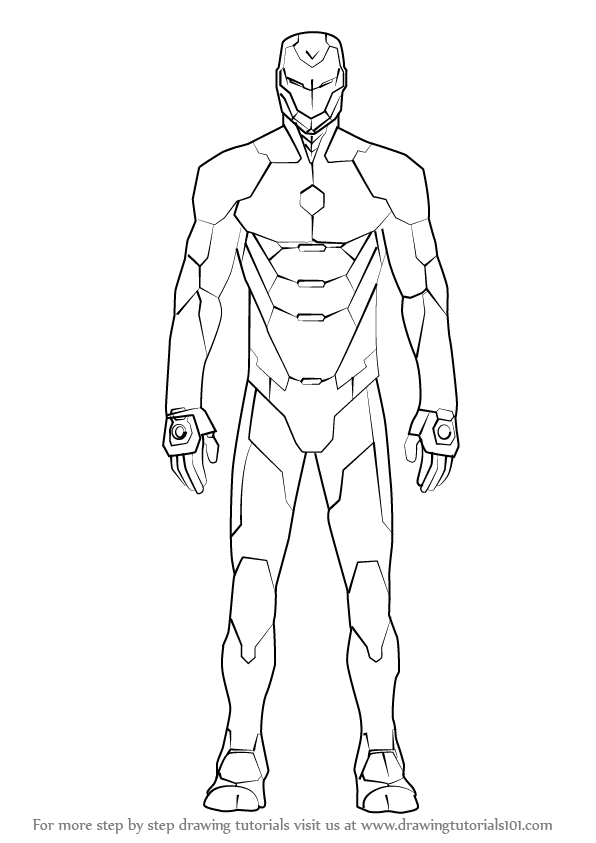 Learn How to Draw Iron Man Suit (Iron Man) Step by Step