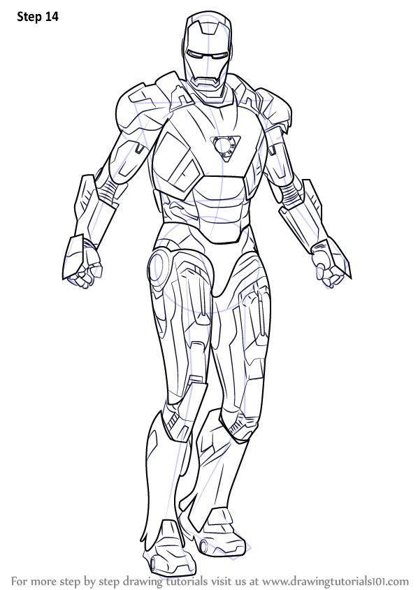 Learn How to Draw Iron Man (Iron Man) Step by Step