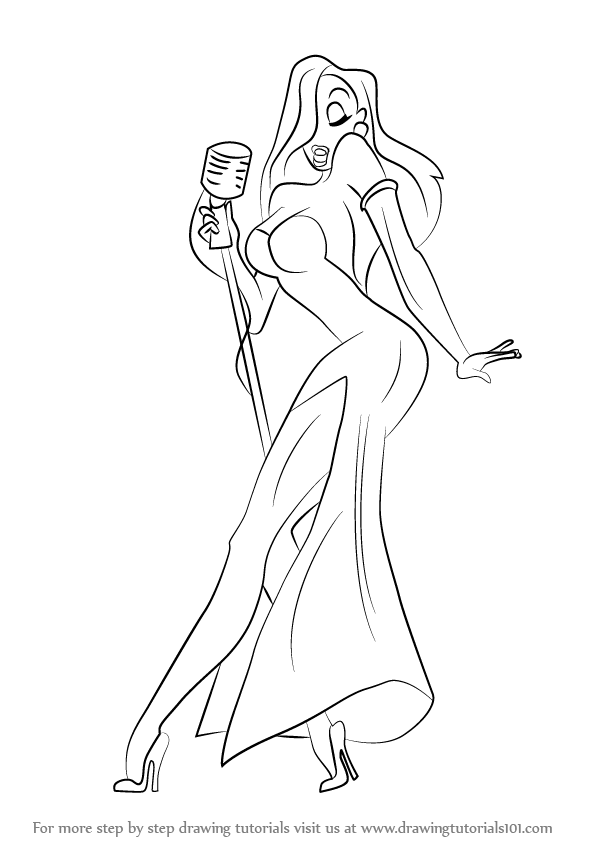 Learn How to Draw Jessica Rabbit (Jessica Rabbit) Step by