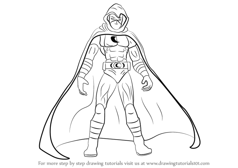 Learn How to Draw Moon Knight (Moon Knight) Step by Step