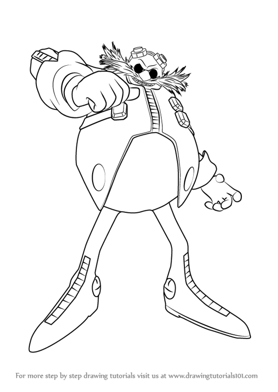 Step by Step How to Draw Dr Eggman from Sonic the Hedgehog