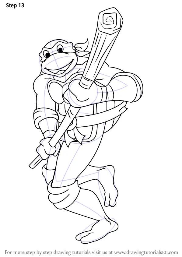 Learn How to Draw Donatello from Teenage Mutant Ninja
