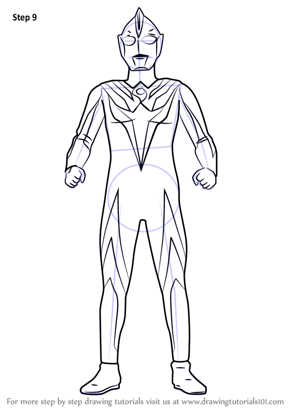 Learn How to Draw Ultraman Cosmos Ultraman Step by Step
