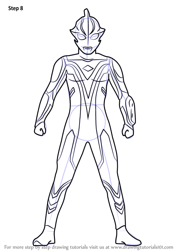 Learn How to Draw Ultraman Mebius Ultraman Step by Step