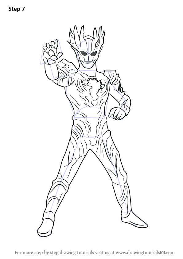 Learn How to Draw Ultraman Saga Ultraman Step by Step