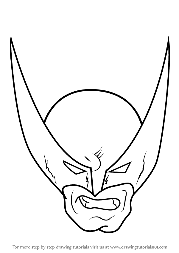 Learn How to Draw Wolverine Head (Wolverine) Step by Step