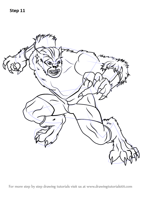 Learn How to Draw Beast from X-Men (X-Men) Step by Step