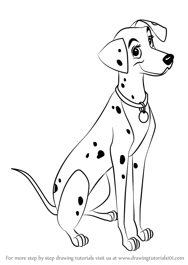 Learn How to Draw Perdita from 101 Dalmations (101