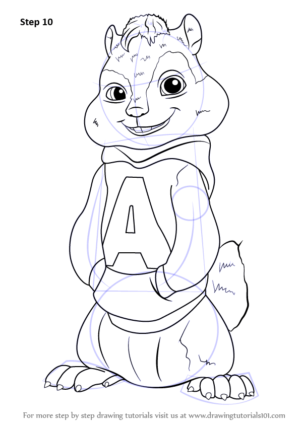 Learn How to Draw Alvin from Alvin and the Chipmunks