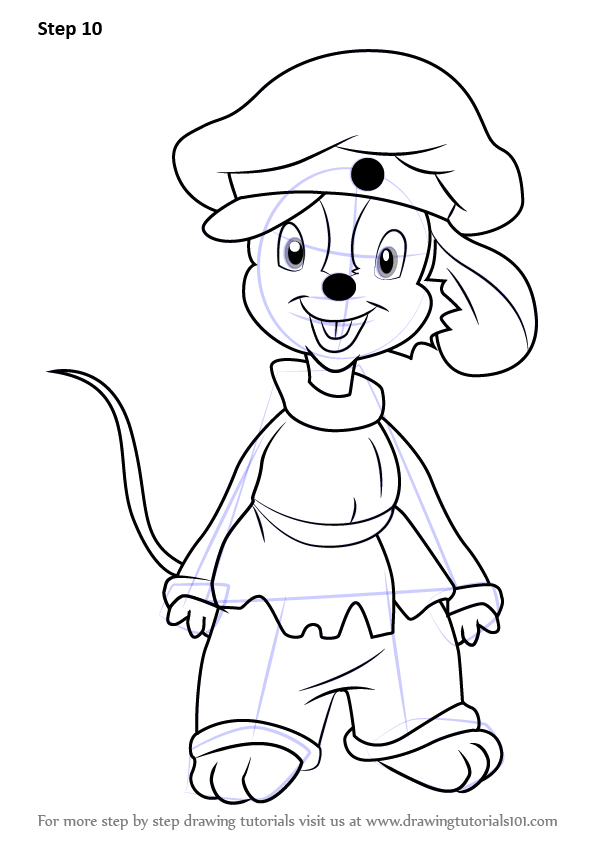 Fievel Mrs Brisby And Basil Sketch Coloring Page